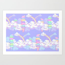 Ice Cream Skies Art Print