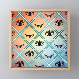 Original Colorful Eyes Design Framed Mini Art Print