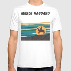 Merle Haggard LARGE Mens Fitted Tee White