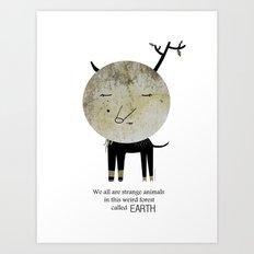 Strange Animal Art Print