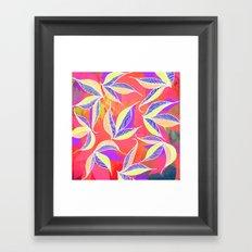 Colorful Falling Leaves  Framed Art Print