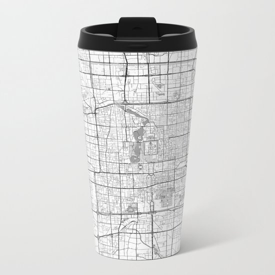 Beijing Map Line Metal Travel Mug