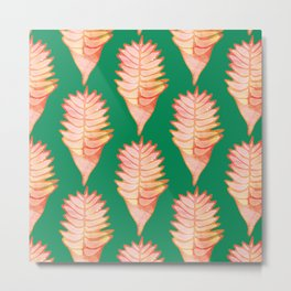 Heliconia Green Metal Print