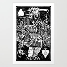 Death & Devil - Jack of Spades Card - The wages of sin is death (for Vito) Art Print