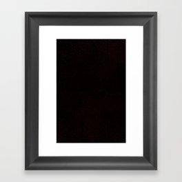 lava flow in total darkness Framed Art Print