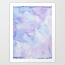 Mermaid Vibes - Purple Blue Ocean Splash Art Print