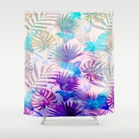 tropical Shower Curtains featuring TROPICAL  by sametsevincer