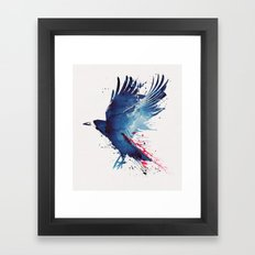 Bloody Crow Framed Art Print