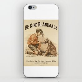 Be Kind To Animals 3 iPhone Skin