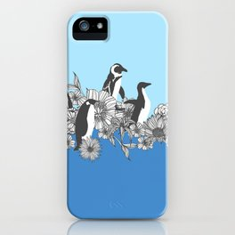 Flowers & Penguins iPhone Case