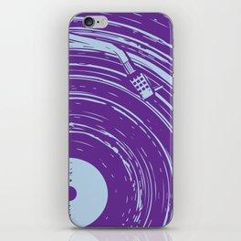 vinyl purple iPhone Skin