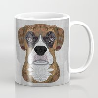 boxer Mugs featuring Boxer by ArtLovePassion