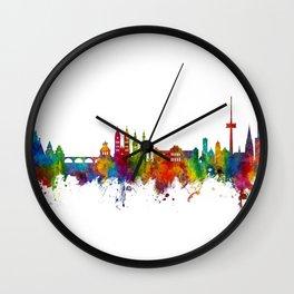 Koblenz Germany Skyline Wall Clock