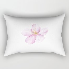 Cherry Blossom, Spring, Watercolor painting by Suisai Genki Rectangular Pillow