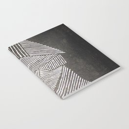 Black and White  Lines Notebook