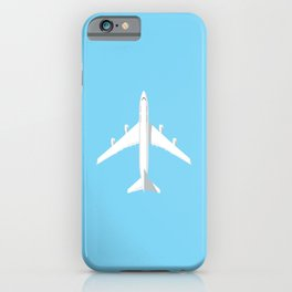747-400 Jumbo Jet Airliner Aircraft - Sky iPhone Case