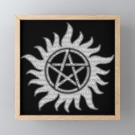 Carry On Supernatural Pentacle Framed Mini Art Print