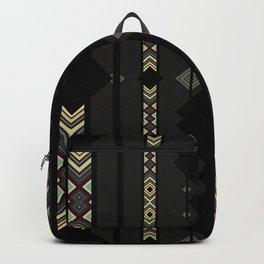 Southwestern Black Diamond Stripe Patterns Backpack
