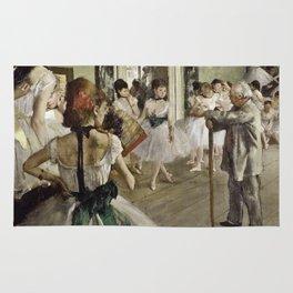Edgar Degas - The Ballet Class Rug