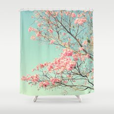 Spring Kissing the Sky Shower Curtain