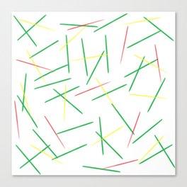 Fallen Toothpicks Canvas Print