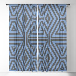 African Geometric Tribal Pattern 3 Sheer Curtain