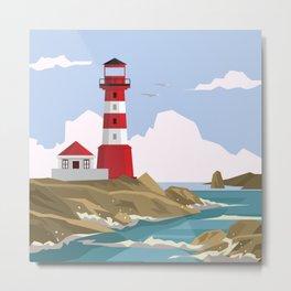 Lighthouse Ahoy! Metal Print