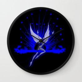 Electric Blue Angel Wall Clock