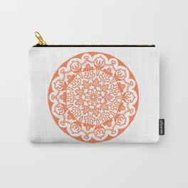 Orange Mandala Carry-All Pouch