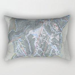 Whitefish Mountain Resort Trail Map Rectangular Pillow