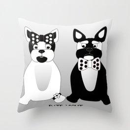 Date Night  - French Bulldogs Throw Pillow