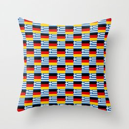 Mix of flag : Germany and greece Throw Pillow