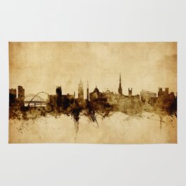 Newcastle England Skyline Rug