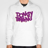 donkey Hoodies featuring Donkey Brain by Josh LaFayette