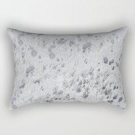 Silver Hide Print Metallic Rectangular Pillow