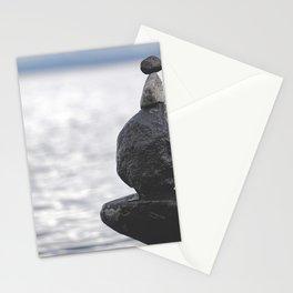 Rocks over Yellowstone Lake Stationery Cards
