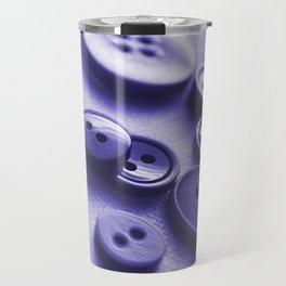 Purple Buttons Travel Mug