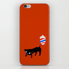 Hairdresser's black dog iPhone & iPod Skin
