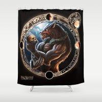 werewolf Shower Curtains featuring WEREWOLF by TheMagicWarrior