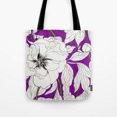 Purple Peonies Tote Bag