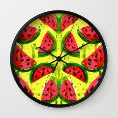 Watermelon Meltdown Wall Clock