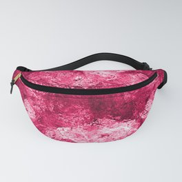 Neon Pink Metallic Patchwork Foil Fanny Pack