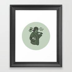 Der Morgen Grau Framed Art Print