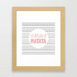 Hakuna Matata II Framed Art Print