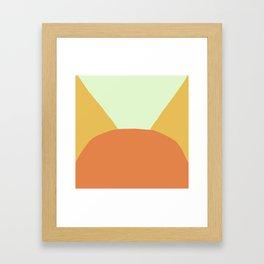 Deyoung Orange Framed Art Print