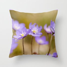 Anemone hepatica II Throw Pillow
