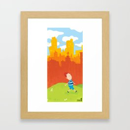 Living in the city  Framed Art Print