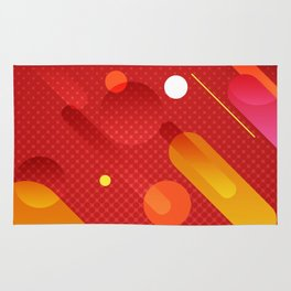 Abstract Meteor Shower Rug