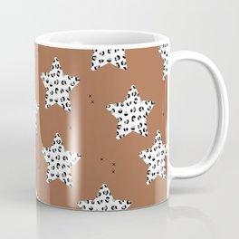 Leopard Star Rust Patern Design Print Coffee Mug