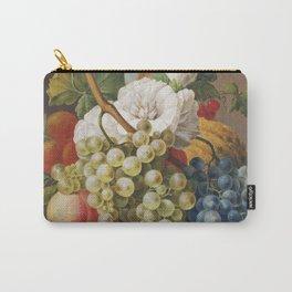 Stilleven met bloemen en fruit in een mandje (ca 1791) in high resolution by Anthony Oberman Carry-All Pouch